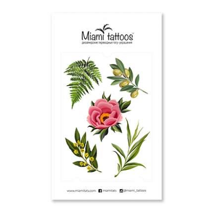 Переводные тату Miami Tattoos Botanical