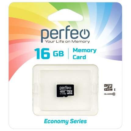 Карта памяти Perfeo microSD 16GB High-Capacity (Class 10) без адаптера economy series