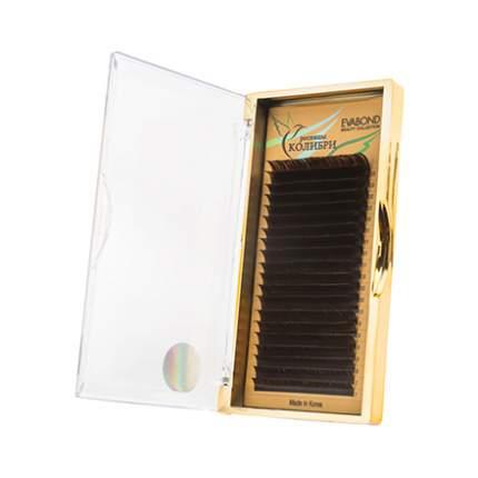 Ресницы Evabond Колибри 0,10, C темный шоколад