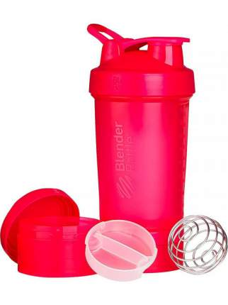 Шейкер с контейнерами и таблетницей BlenderBottle ProStak Full Color 624 мл pink