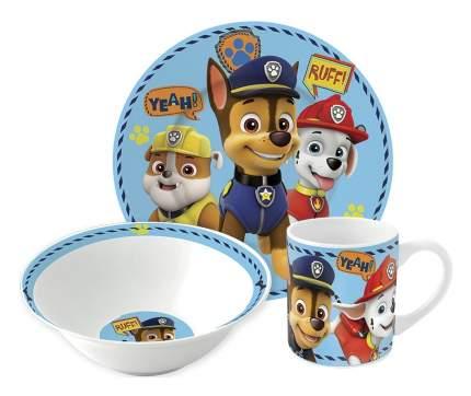 Набор детской посуды Stor Щенячий патруль Мальчик Символы, подарочная упаковка, 3 предмета