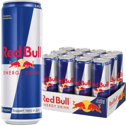 Напиток энергетический RED BULL жестяная банка 12*0.473л