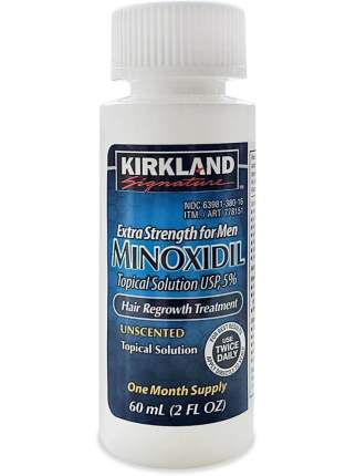 Лосьон для роста волос и бороды Kirkland Signature Minoxidil 5%/ 1 флакон с пипеткой