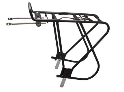 """Велобагажник Bor yueh by-378tc, 26-28"""", алюминий, с боковыми дугами, с пружиной, чёрный"""