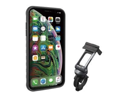 Чехол с креплением TOPEAK RIDECASE W/RIDECASE MOUNT WORKS WITH iPHONE XS MAX, BLACK/GRAY