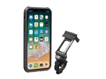 TOPEAK RIDECASE W/MOUNT, WORKS WITH iPHONE X/XS, BLACK/GRAY чехол д/смартфона c креплением