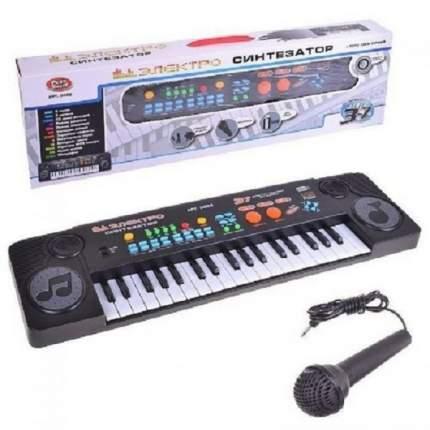 Детский электронный синтезатор-пианино PlaySmart 0888 микрофон, MP3, FM радио, 37 клавиш