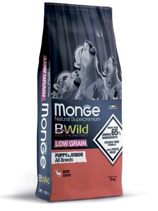 Сухой корм для собак Monge Dog BWild Low Grain Puppy&junior низкозерновой из оленя 12кг