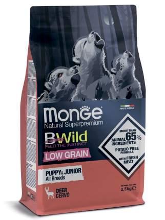 Сухой корм для собак Monge Dog BWild Low Grain Puppy & junior низкозерновой из оленя 2.5кг