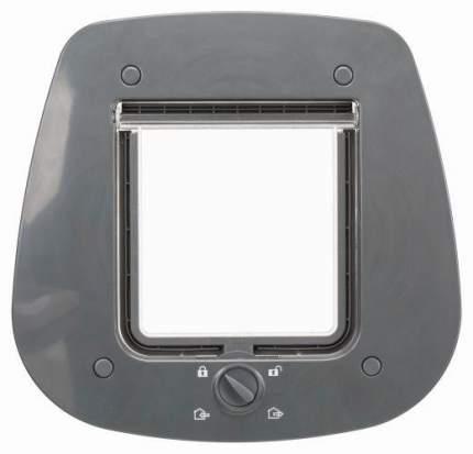 """Дверца для кошки Trixie """"4-Way"""", для стеклянных дверей, 27x26 см, серый"""