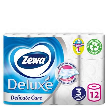 Туалетная бумага Zewa Deluxe Белая 3-х сл