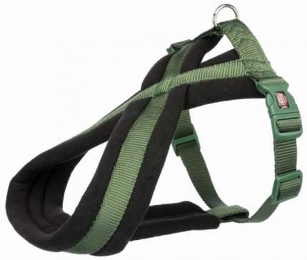 Шлейка для собак TRIXIE Premium Touring, M, L, нейлон, пластик, зеленый,  50-80 см, 25 мм
