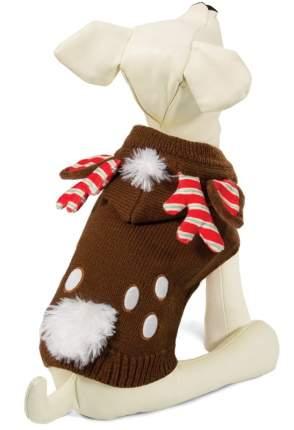 Свитер для собак Triol Рождественский олень, мужской, коричневый, L, длина спины 50 см