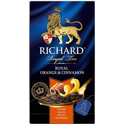Чай Richard Royal Orange & Cinnamon черный с добавками 25 пакетиков