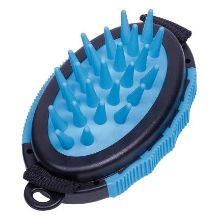 Рукавица для вычесывания Nobby Comfort Line, цвет черный, синий