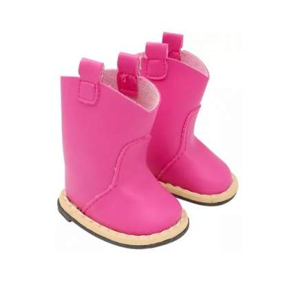 Сапожки для куклы, цвет: розовый, 7 см, арт. MISU-7258