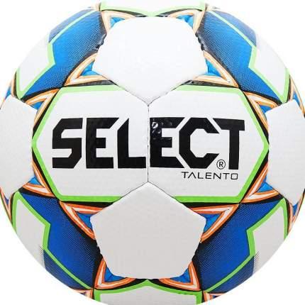 Футбольный мяч Select Talento 2019 №4 бело-синий/зелено-оранжевый