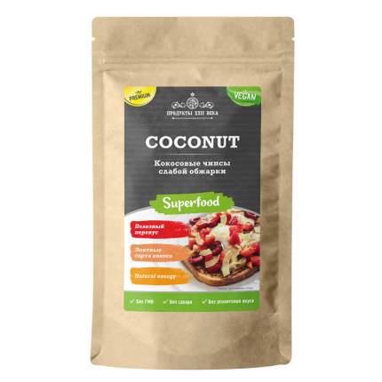 Кокосовые чипсы слабой обжарки Продукты XXII века Coconut