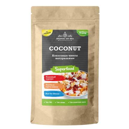 Кокосовые чипсы Продукты XXII века Coconut натуральные