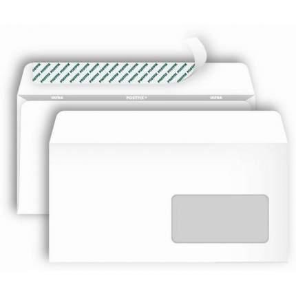 Bong Postfix, Е65, стрип, прозрачное окно, 110*220, 80 г/м2, 1000 шт