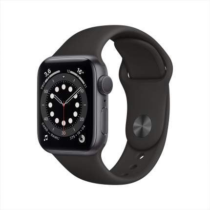 Смарт-часы Apple Watch Series 6 40mm Space Grey with Black Sport Band (MG133RU/A)