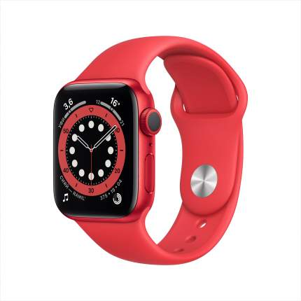 Смарт-часы Apple Watch Series 6 40mm (PRODUCT) RED with Sport Band (M00A3RU/A)
