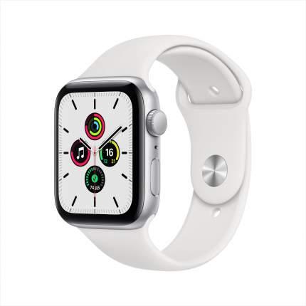 Смарт-часы Apple Watch SE 44mm Silver with White Sport Band (MYDQ2RU/A)