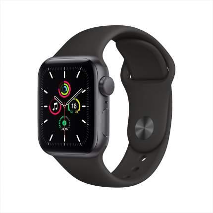Смарт-часы Apple Watch SE 40mm Space Grey with Black Sport Band (MYDP2RU/A)