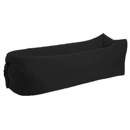 Надувной диван лежак 240см*70см (матрас-гамак) черный