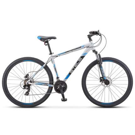 "Велосипед Stels Navigator 900 D F010 2020 19"" серебристый/синий"
