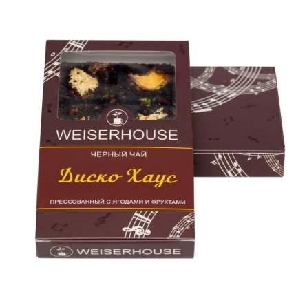 """Чай Weiserhouse """"Диско Хаус"""", чёрный прессованный с добавками, плитка, 75 гр"""