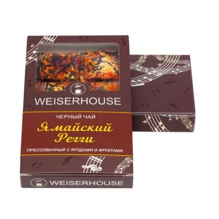 """Чай Weiserhouse """"Ямайский Регги"""", чёрный прессованный с ягодами и фруктами, плитка, 75 гр"""