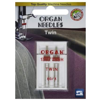 Иглы Organ двойные 2-80/3 Blister