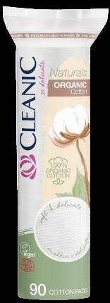 Ватные диски CLEANIC Naturals Organic Cotton п/э с веревочкой 90 шт