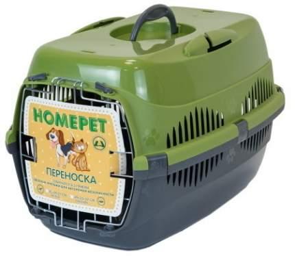 Переноска для животных HOMEPET 33x43x32см оливковый, серый