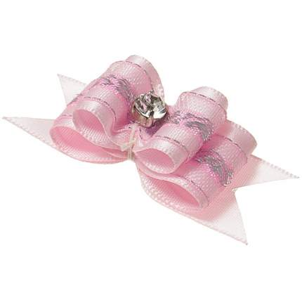 """Заколка для домашнего питомца ZooOne """"Ностальжи"""", 5x2 см, светло-розовый (2 штуки)"""