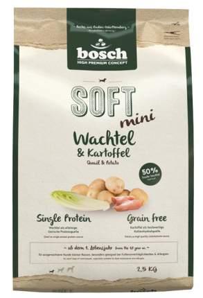 Сухой корм для собак Bosch Soft Mini , перепел, картофель, 2,5кг