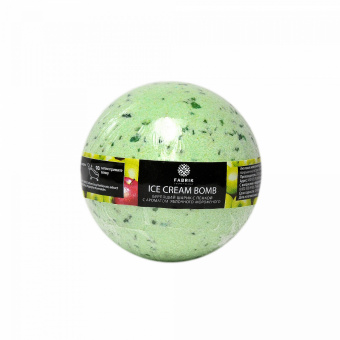 Бурлящий шарик с пенкой для ванны Fabrik Cosmetology Яблочное Мороженое 120 г