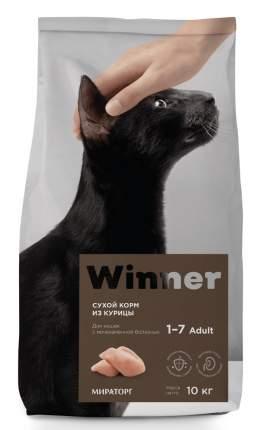 Сухой корм для кошек Winner Adult, при мочекаменной болезни с курицей , курица, 10кг