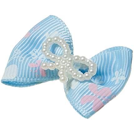 """Заколка для домашнего питомца ZooOne голубой  """"Ностальжи"""", 3,5x2,5 см, голубые (2 штуки)"""