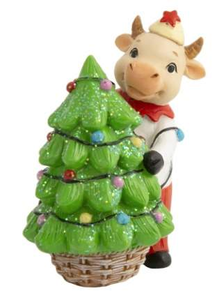 Новогодняя фигурка Бычок с елкой Феникс Present 81387