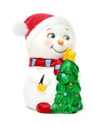 Новогодняя фигурка снеговика Снеговик с елочкой Феникс Present 38345