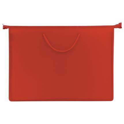 Пифагор А3, пластик, молния сверху, ручки-шнурок, красная
