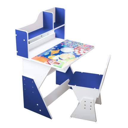 Детская растущая парта и стул Я САМ Космос, цвет Королевский синий