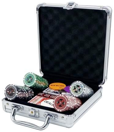 Покерный набор Ultimate, 100 фишек 11.5 г с номиналом в чемодане, сукно