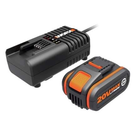 Батарея аккумуляторная Worx WA3604 20В 4Ач Li-Ion (З/У в компл.)