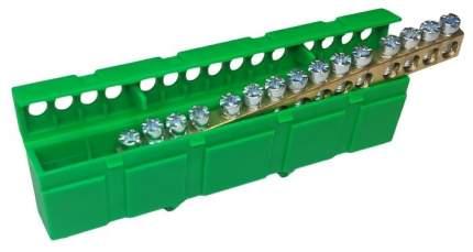 Шина сборная нулевая (корпусный изолятор) 15х1 Зеленая