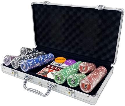 Покерный набор NUTS, 300 фишек 11.5 г с номиналом в чемодане, сукно