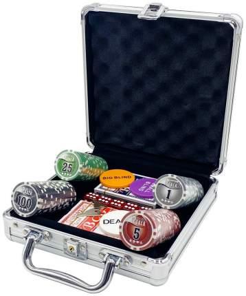 Покерный набор NUTS, 100 фишек 11.5 г с номиналом в чемодане, сукно
