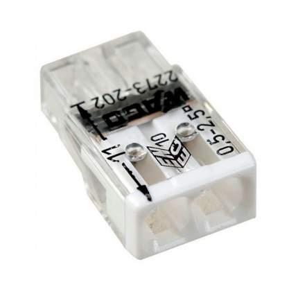 Клемма 2 контактная, компактная, 0.5-2.5 кв.мм (10 шт) WAGO 2273-202